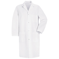 UNF5080WH-RG-S - Red KapMens Lab Coat