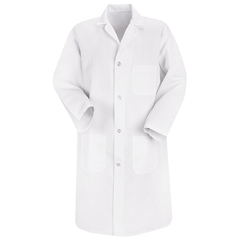 UNF5700WH-RG-L - Red KapMens Lab Coat