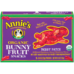 BFG65398 - Annie's HomegrownAnnies  Berry Patch Fruit Snacks, Single Servings