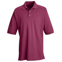 UNF7701BR-SS-XL - Red KapMens Basic Pique Polo Shirt