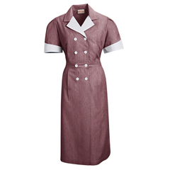 UNF9S01BU-SS-XL - Red KapWomens Double-Breasted Lapel Dress