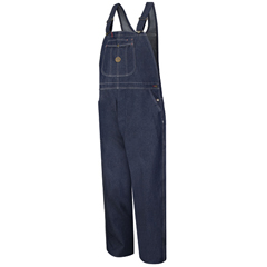 UNFBD10DN-44-34 - Red KapMens Denim Bib Overall