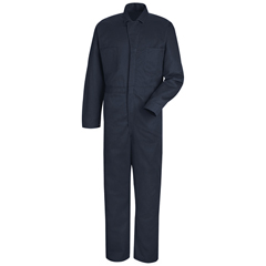 UNFCC14NV-RG-42 - Red KapMens Snap-Front Cotton Coverall