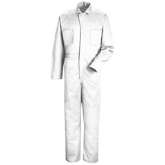 UNFCC14WH-RG-50 - Red KapMens Snap-Front Cotton Coverall