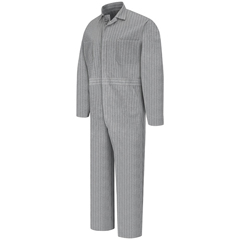 UNFCC16HB-RG-36 - Red KapMens Button-Front Cotton Coverall