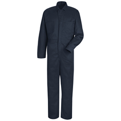 UNFCC16NV-RG-66 - Red KapMens Button-Front Cotton Coverall