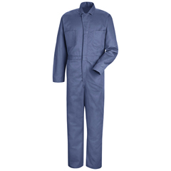 UNFCC16PB-RG-64 - Red KapMens Button-Front Cotton Coverall