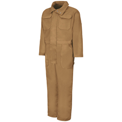 UNFCD32BD-RG-L - Red KapMens Zip-Front Cotton Coverall