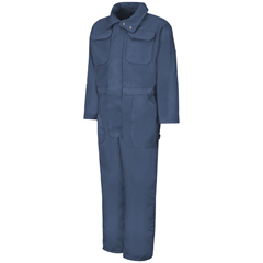UNFCD32ND-RG-L - Red KapMens Zip-Front Cotton Coverall