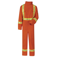 UNFCLBCOR-RG-48 - BulwarkMens EXCEL FR® ComforTouch® Premium Coverall with CSA Compliant Reflective Trim