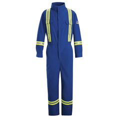 UNFCLBTRB-RG-56 - BulwarkMens EXCEL FR® ComforTouch® Premium Coverall with Reflective Trim