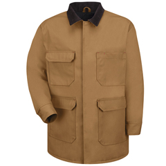 UNFJD24BD-RG-M - Red KapMens Blended Duck Chore Coat