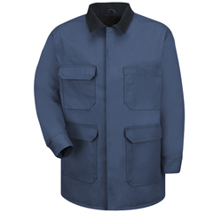 UNFJD24ND-RG-L - Red KapMens Blended Duck Chore Coat