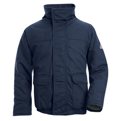 UNFJLR8NV-LN-L - BulwarkMens EXCEL FR® ComforTouch® Insulated Bomber Jacket