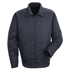 UNFJT22NV-LN-M - Red KapMens Slash Pocket Jacket