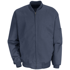 UNFJT36NV-RG-L - Red KapMens Solid Team Jacket