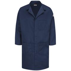 UNFKLL6NV-RG-M - BulwarkMens EXCEL FR® ComforTouch® Concealed Snap-Front Lab Coat - 6 oz.
