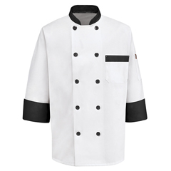 UNFKT74BT-RG-L - Chef DesignsMens Garnish Chef Coat