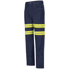 UNFPD60ED-32-37U - Red KapMens Enhanced Visibility Mens Relaxed Fit Jeans