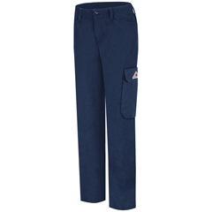 UNFPMU3NV-08-34U - BulwarkWomens CoolTouch® 2 Cargo Pocket Work Pant - 7 oz.