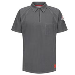UNFQT10CH-SS-M - BulwarkMens iQ Short Sleeve Polo Shirt