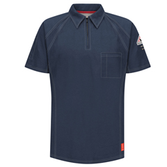 UNFQT10DB-SS-4XL - BulwarkMens iQ Short Sleeve Polo Shirt