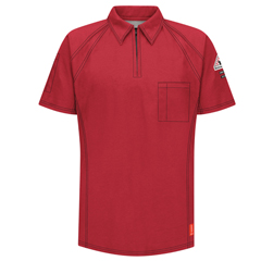 UNFQT10RD-SS-4XL - BulwarkMens iQ Short Sleeve Polo Shirt