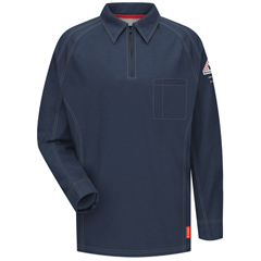 UNFQT12DB-RG-L - BulwarkMens iQ Long Sleeve Polo Shirt