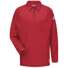 UNFQT12RD-RG-M - BulwarkMens iQ Long Sleeve Polo Shirt
