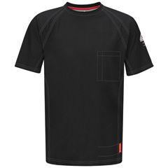 UNFQT30BK-SS-L - BulwarkMens iQ Short Sleeve Tee Shirt