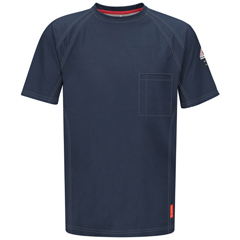 UNFQT30DB-SSL-3XL - BulwarkMens iQ Short Sleeve Tee Shirt