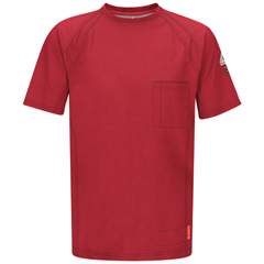 UNFQT30RD-SS-L - BulwarkMens iQ Short Sleeve Tee Shirt