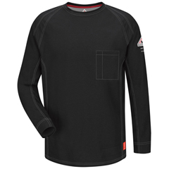 UNFQT32BK-RG-XL - BulwarkMens iQ Long Sleeve Tee Shirt