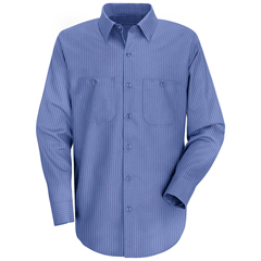 UNFSB12BS-RG-S - Red KapMens Industrial Stripe Work Shirt