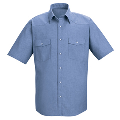 UNFSC24LB-SS-M - Red KapMens Deluxe Western Style Shirt