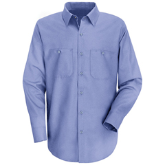 UNFSC30LB-LN-L - Red KapMens Wrinkle-Resistant Cotton Work Shirt