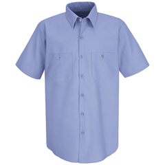 UNFSC40LB-SS-L - Red KapMens Wrinkle-Resistant Cotton Work Shirt