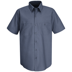 UNFSC40PB-SS-L - Red KapMens Wrinkle-Resistant Cotton Work Shirt