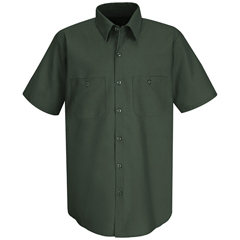 UNFSC40SG-SS-L - Red KapMens Wrinkle-Resistant Cotton Work Shirt