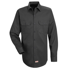 UNFSC70CH-LN-XXL - Red KapMens Deluxe Heavyweight Cotton Shirt