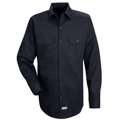 UNFSC70DN-RG-M - Red KapMens Deluxe Heavyweight Cotton Shirt