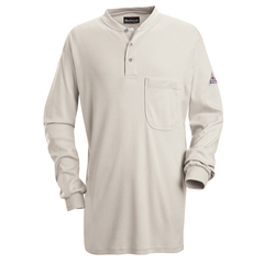 UNFSEL2GY-RG-M - BulwarkMens EXCEL FR® Tagless Henley Shirt