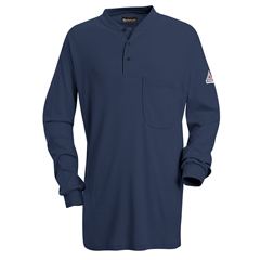 UNFSEL2NV-RG-M - BulwarkMens EXCEL FR® Tagless Henley Shirt