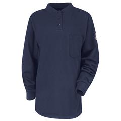 UNFSEL3NV-RG-L - BulwarkMens EXCEL FR® Tagless Henley Shirt