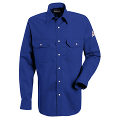 UNFSES2RB-RG-M - BulwarkMens EXCEL FR® Snap-Front Uniform Shirt - 7 oz.