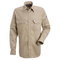 UNFSES2TN-RG-S - BulwarkMens EXCEL FR® Snap-Front Uniform Shirt - 7 oz.