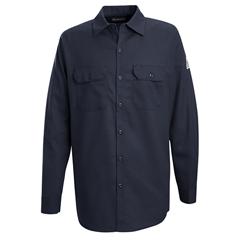 UNFSEW2NV-RG-S - BulwarkMens EXCEL FR® Work Shirt - 7 oz.