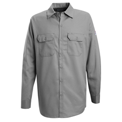 UNFSEW2SY-LN-M - BulwarkMens EXCEL FR® Work Shirt - 7 oz.
