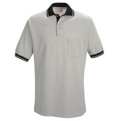 UNFSK14GB-SS-L - Red KapMens Performance Knit® Contrast Trim Shirt