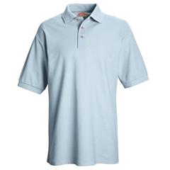 UNFSK72LB-SS-M - Red KapMens Cotton/Polyester Blend Pique Knit Shirt